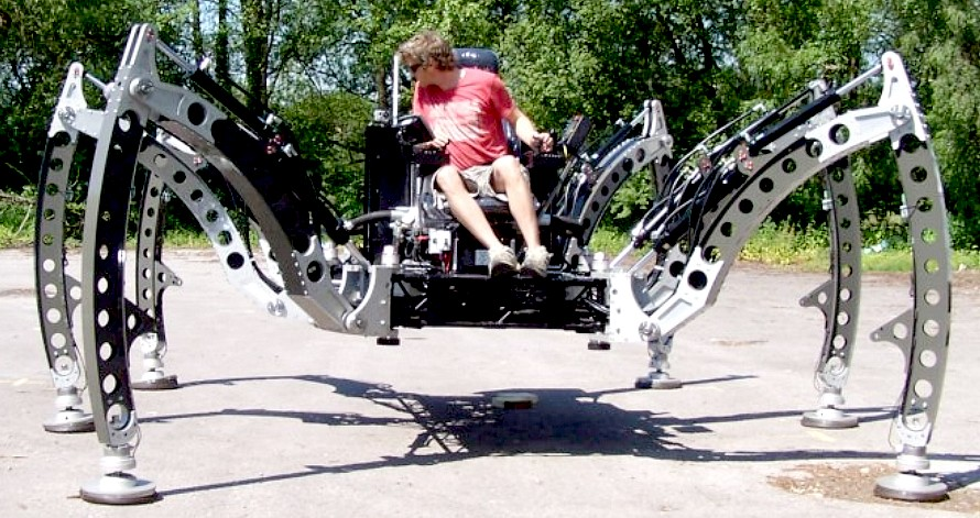 Image caption Animatronics expert Matt Denton says his machine's legs ...