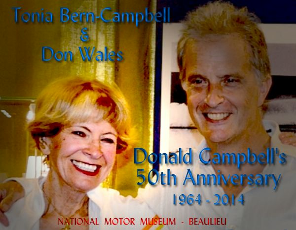 Tonia Bern-Campbell and Don Wales at the 50th Anniversary celebrations, Beaulieu