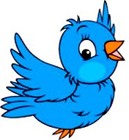 Flying Blue Bird Cartoon