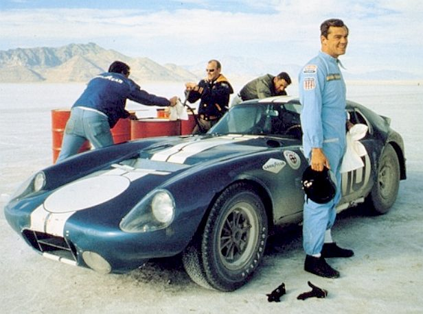 Wow! Bonneville and a Shelby Cobra - every mans dream come true