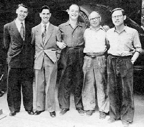 The K7 team: Lewis and Ken Norris, Donald Campbell, Leo Villa and Tom-Fink