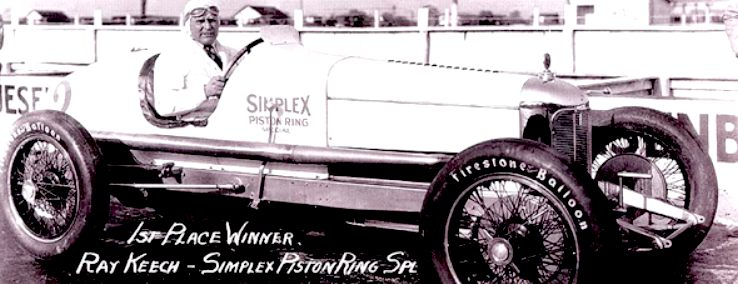 Ray Keech in the race winning Simplex