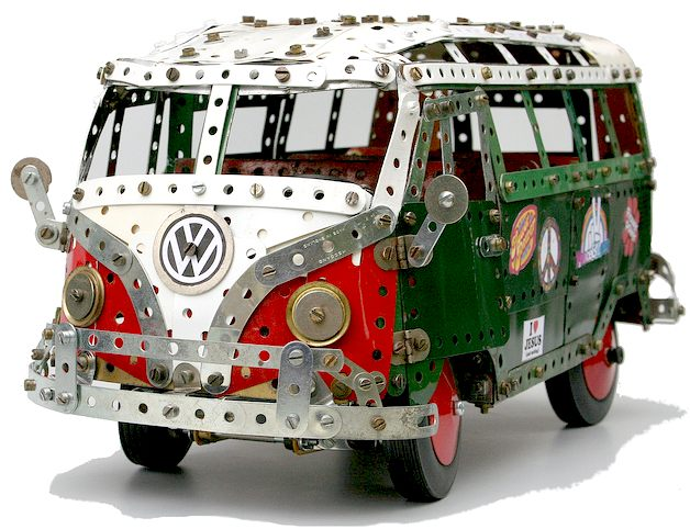 VW combi wagon or bus, in meccano