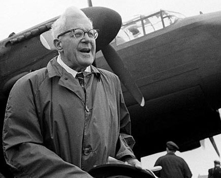 Barnes Wallace, inventor of the Dambusters bouncing bomb