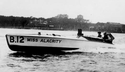Sir Henry Segrave and Miss Amacrity speedboat