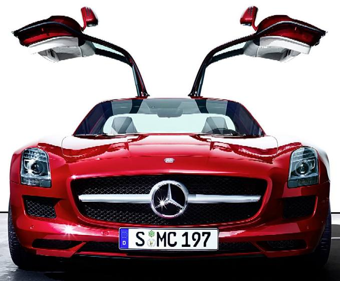 Mercedes modern gull wing car