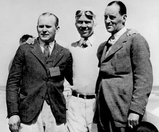 Ray Keech, Frank Lockhart and Malcolm Campbell
