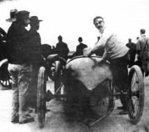 Fred Marriot and the Stanley Steamer