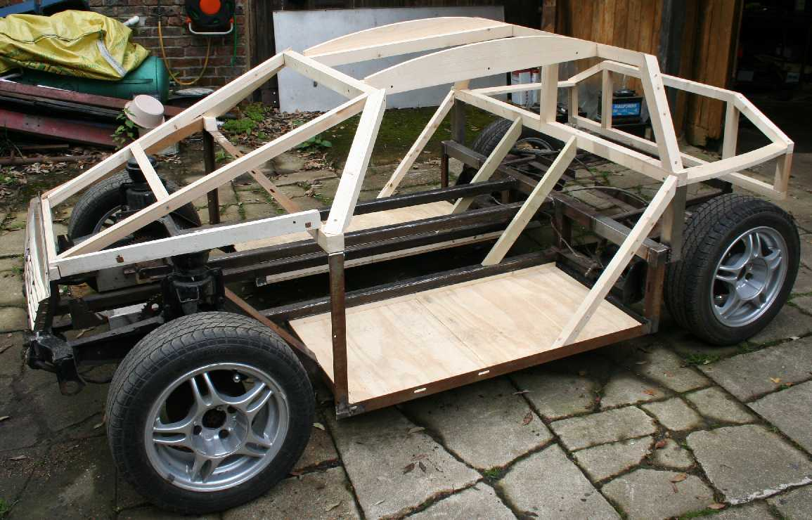 Timber framed eco car concept prototype city sports car