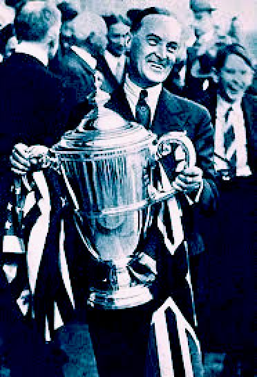 Malcolm Campbell with a large trophy