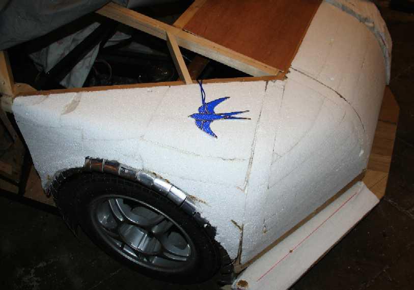 Blue Foam Glass Fiber Wings