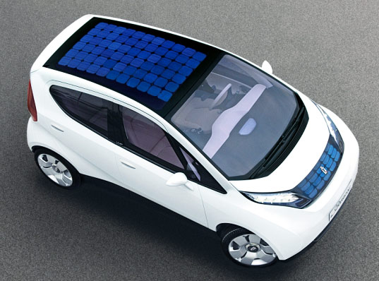 Solar assisted electric car