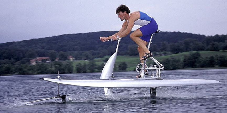 The Silver Swan human powered hydrofoil