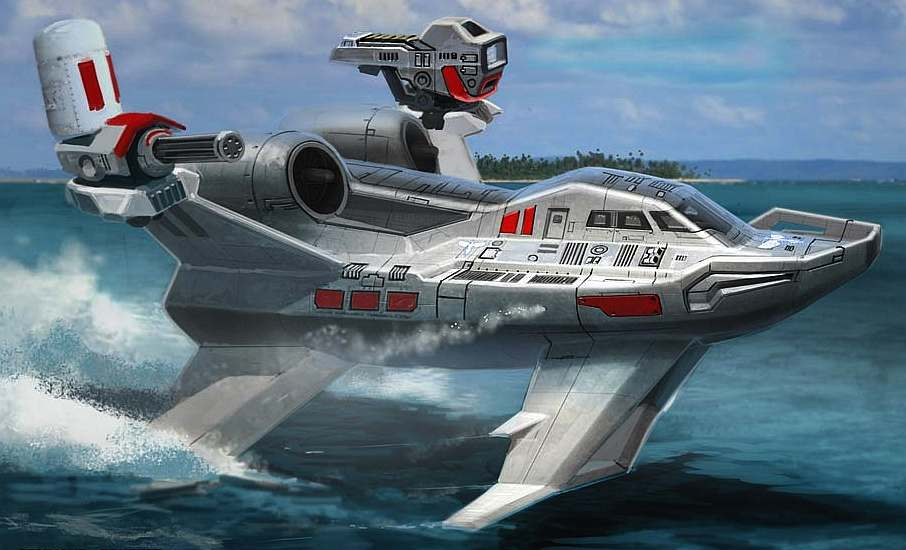 Red Alert 3 hydrofoil fast attack ship