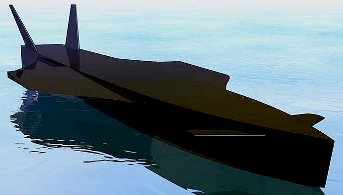 Black Bird water speed record boat concept