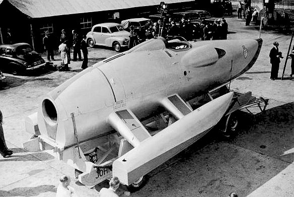 The Crusader - jet propelled water speed record boat