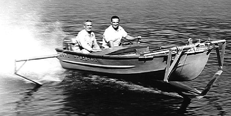 Tom Lang's hydrofoil boat 1954