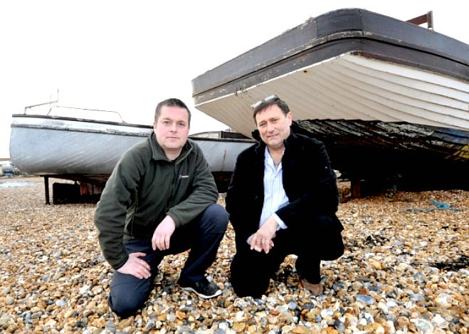Jason Foster and Lloyd Stebbings looking for help to restore a bit of marine history