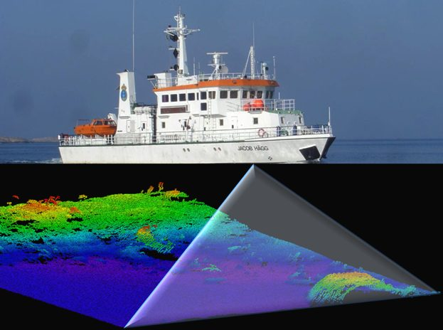 Seabed survey satellite information relay
