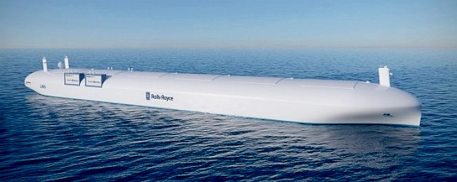 Rolls Royce concept for an unmanned cargo ship or oil tanker