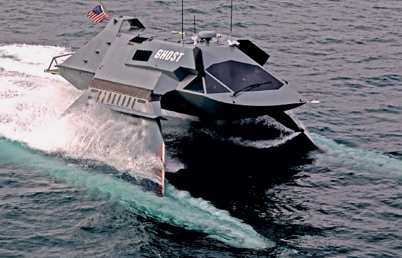 The Ghost from Juliet Marine, a stealth SWATH boat