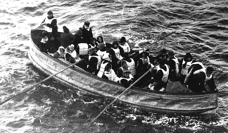 RMS Titanic's last lifeboat, safely launched 15 April 1912