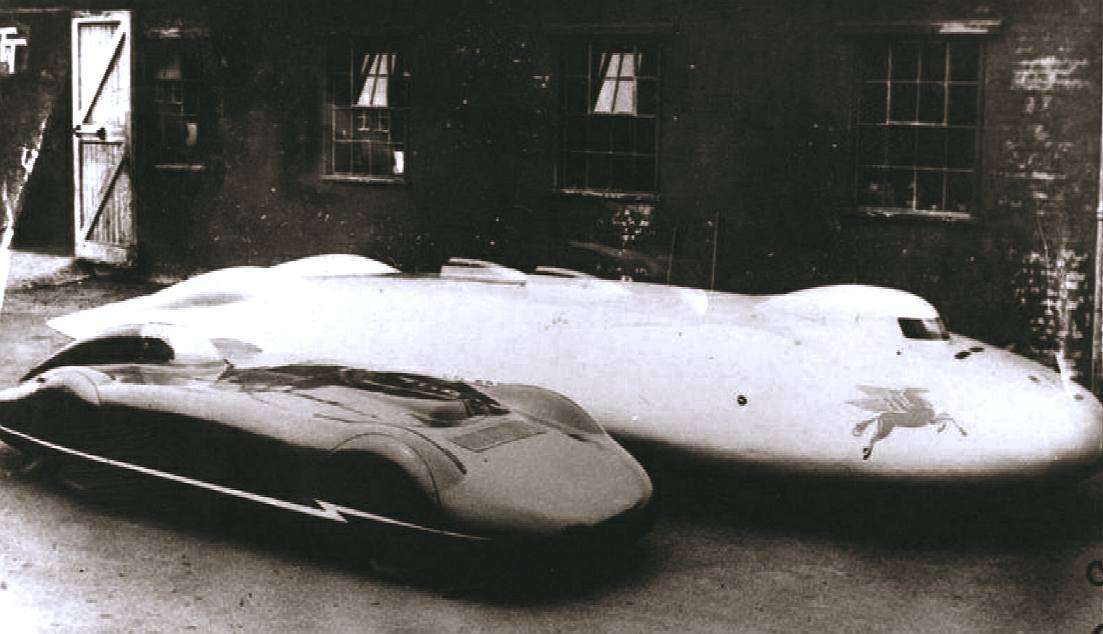 The Railton Mobil Special and MG lands speed record cars