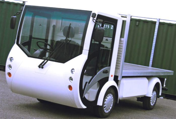 Chinese milk float imports, electric delivery van