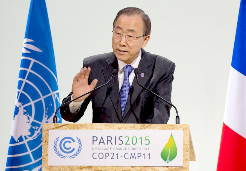 Ban Ki-moon in Paris at COP21