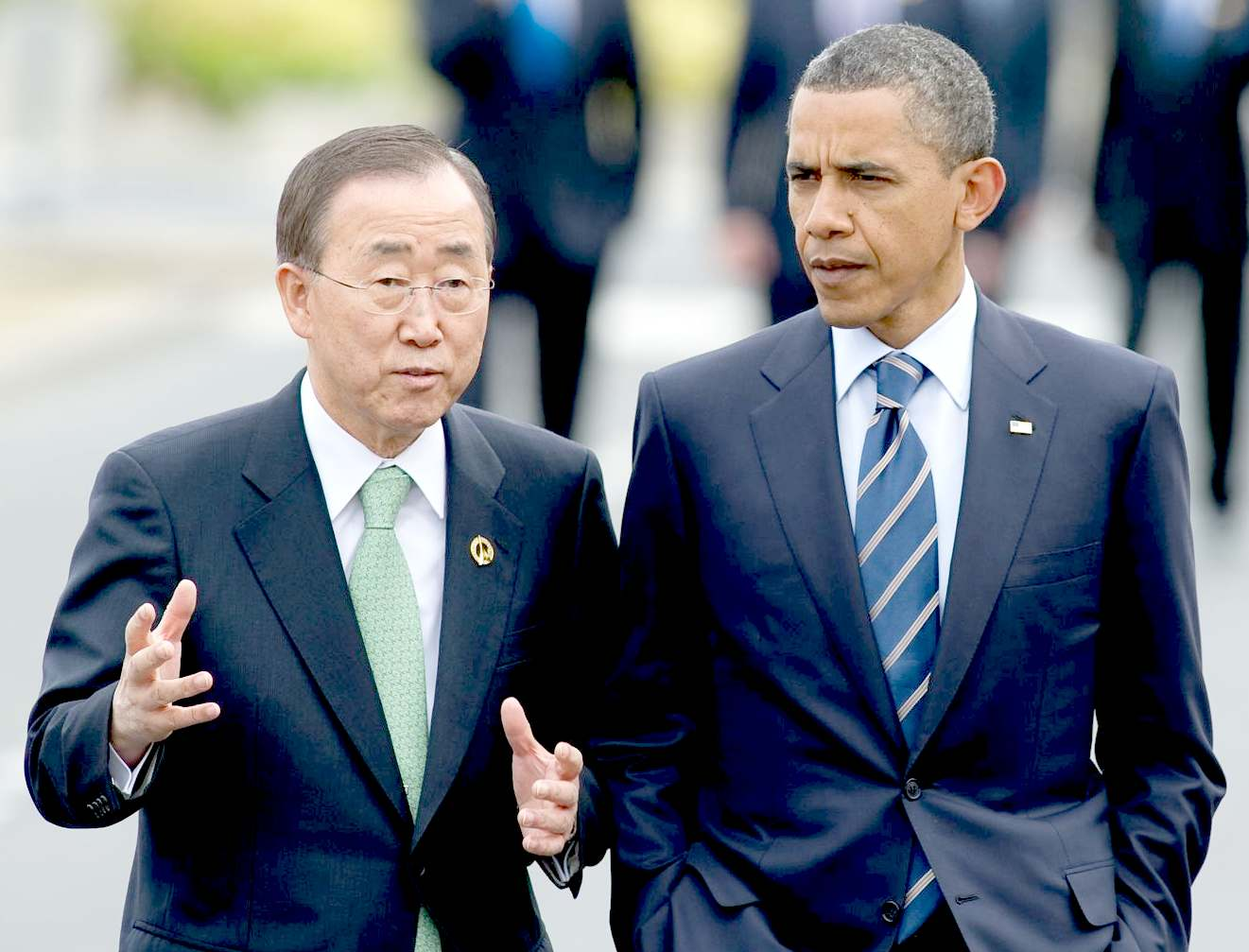 Ban Ki-moon and President Obama