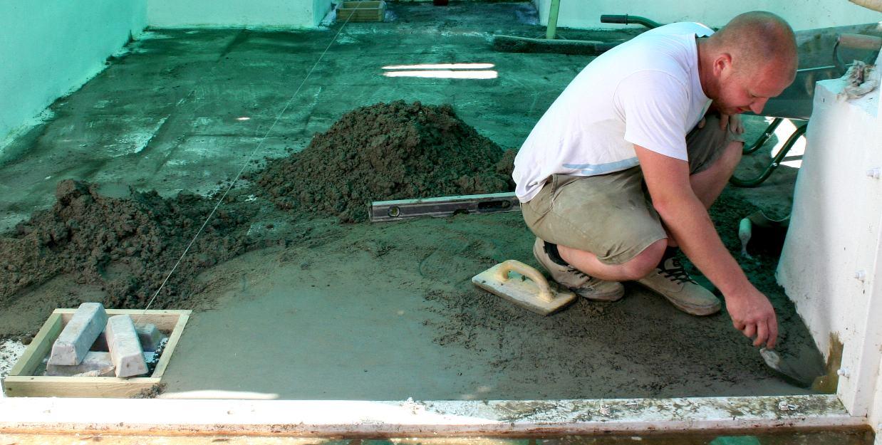 Water Tank Waterproofing : Screed waterproofing pool test tank sand sharp cement