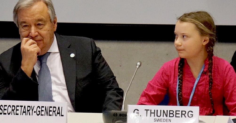 Antonio Guttera and Greta Thunberg