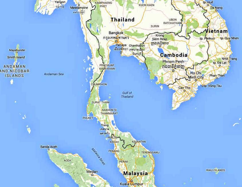 Gulf Of Thailand Map GULF OF THAILAND SIAM