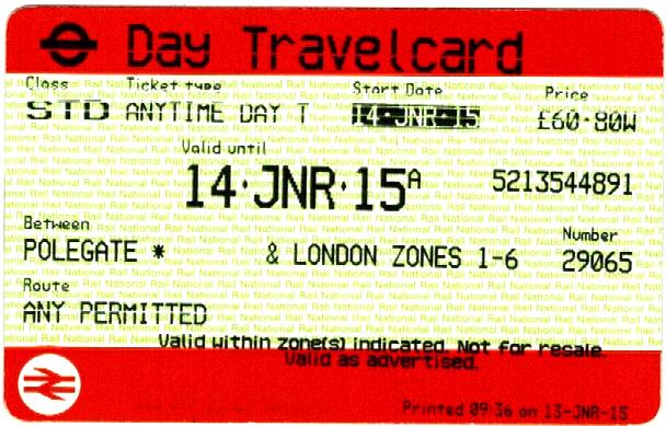 National Rail, travel ticket