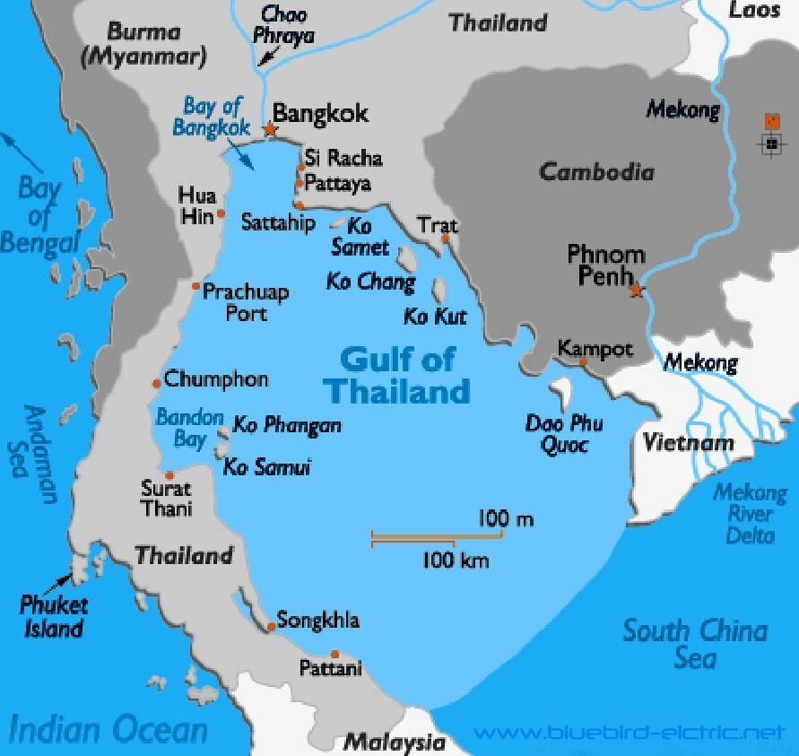 GULF OF THAILAND SIAM