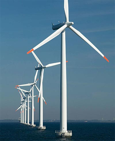 Denmark, leading Europe in the installation of offshore wind turbines