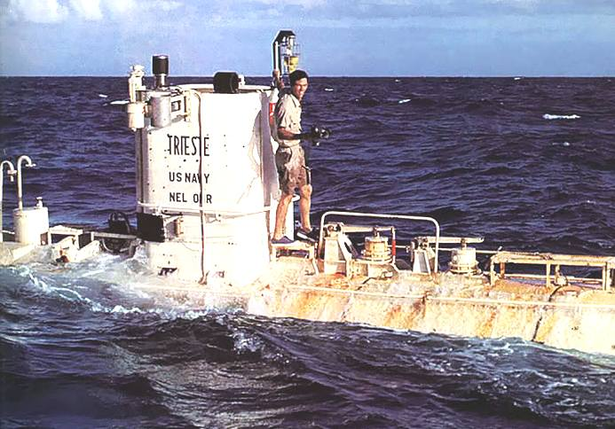 Trieste Bathyscaphe Mariana Trench Jacques Piccard Don